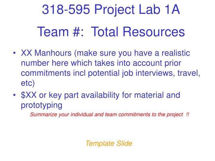 Team #:  Total Resources
