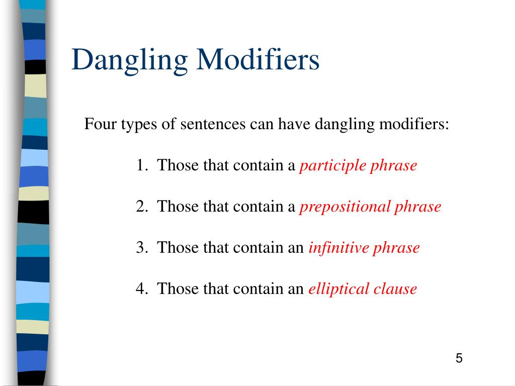 PPT - Dangling Modifiers PowerPoint Presentation, free ...