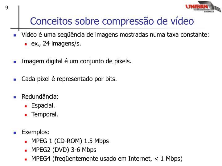 Conceitos sobre compressão de vídeo
