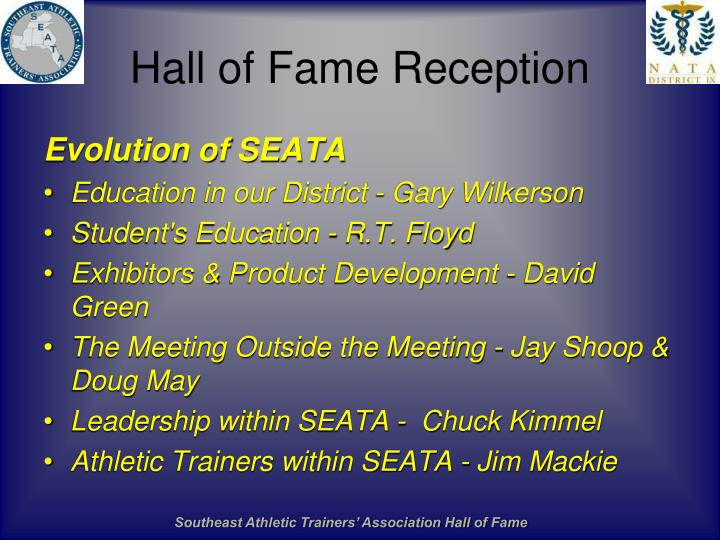 Hall of Fame Reception