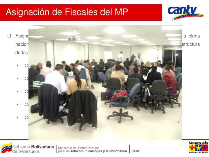 Asignación de Fiscales del MP