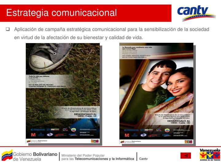 Aplicación de campaña estratégica comunicacional para la sensibilización de la sociedad en virtud de la afectación de su bienestar y calidad de vida.