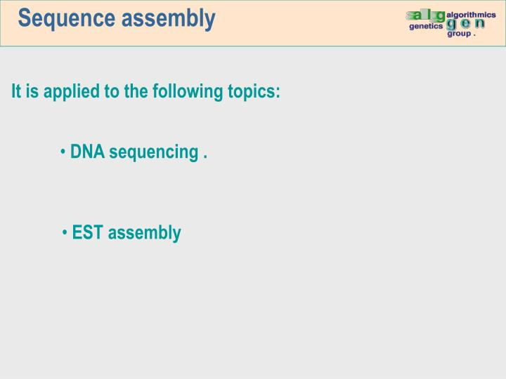 Sequence assembly