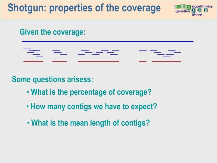 Shotgun: properties of the coverage