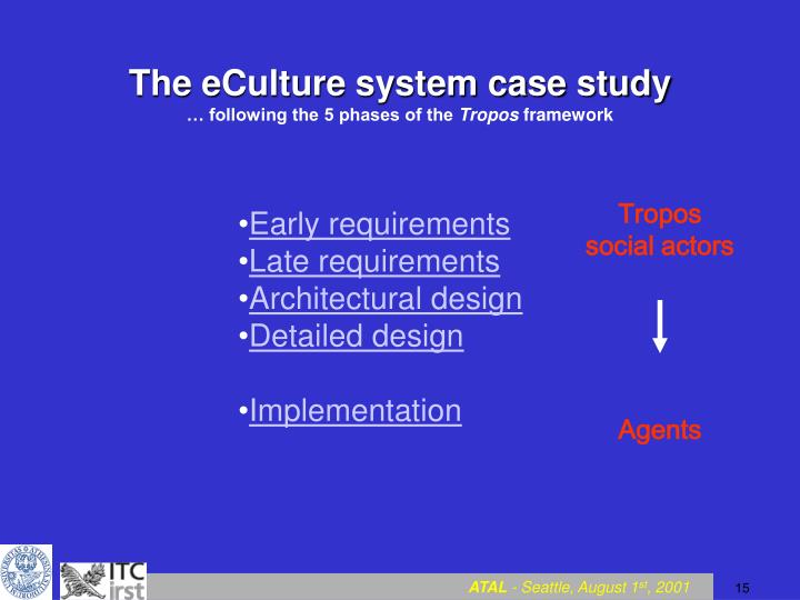 The eCulture system case study