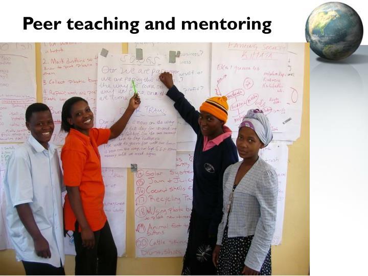 Peer teaching and mentoring