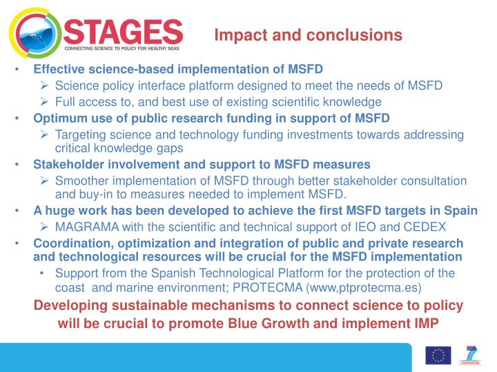 Impact and conclusions