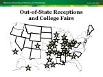 out of state receptions and college fairs