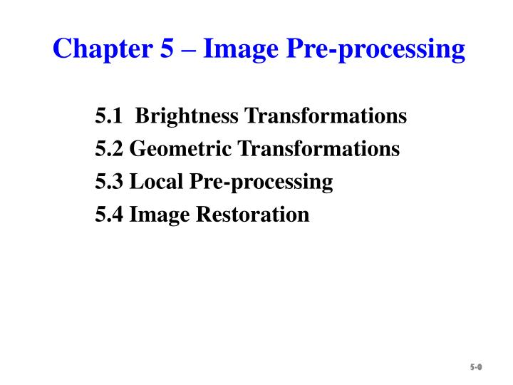 chapter 5 image pre processing n.