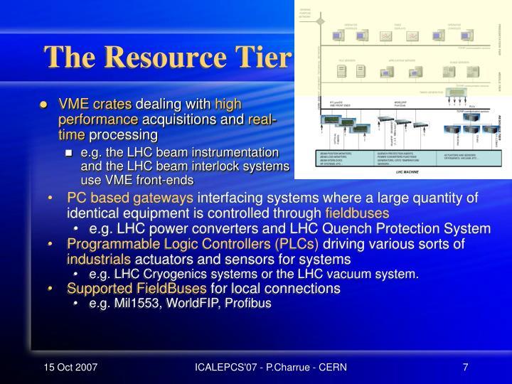 The Resource Tier