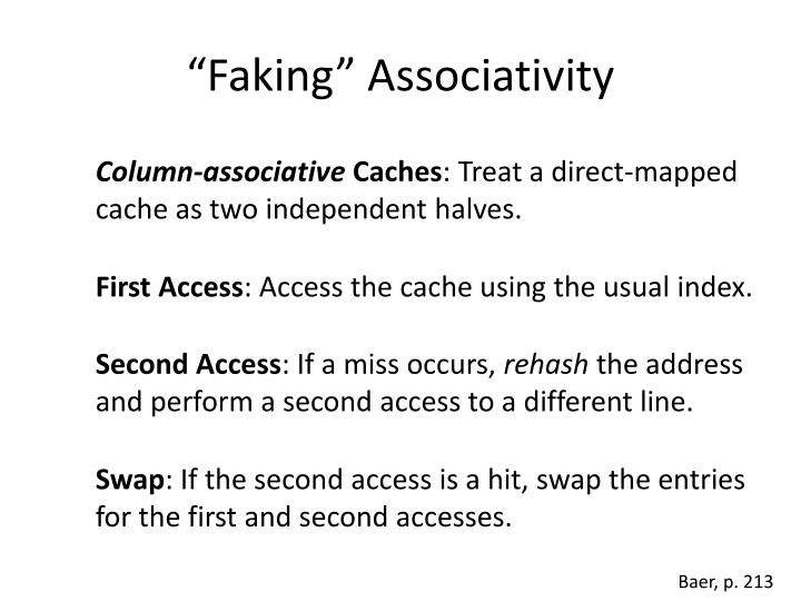 """Faking"" Associativity"