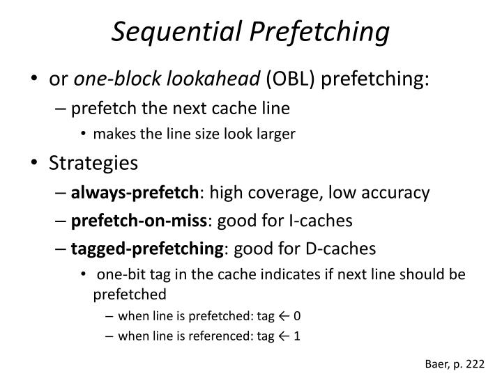 Sequential Prefetching