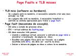 page faults e tlb misses