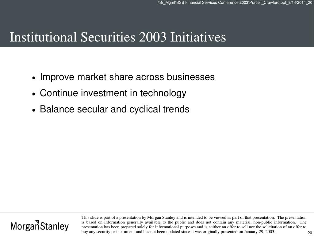 PPT - Salomon Smith Barney Financial Services Conference