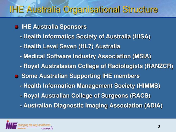 Ihe australia organisational structure