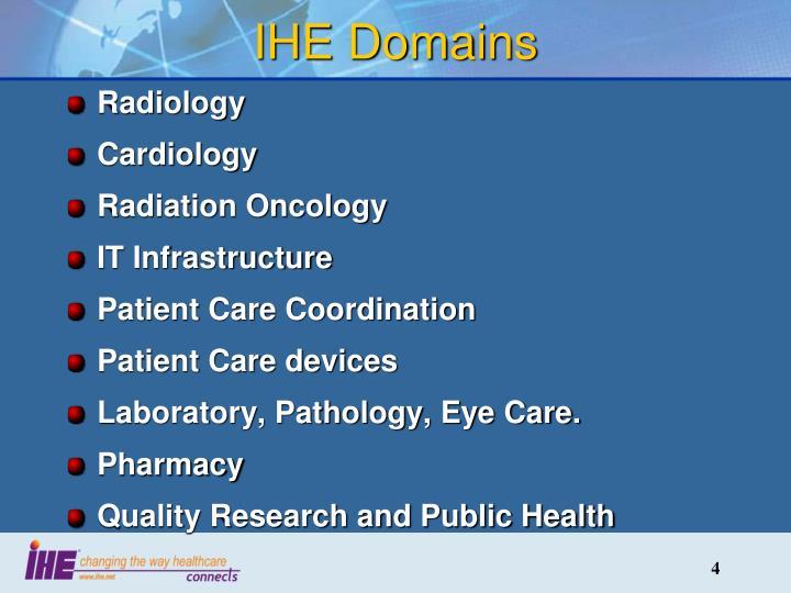 IHE Domains