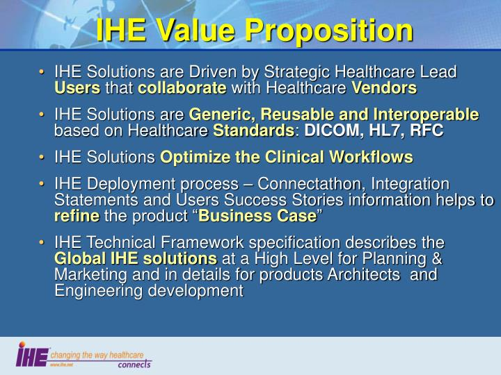 IHE Value Proposition