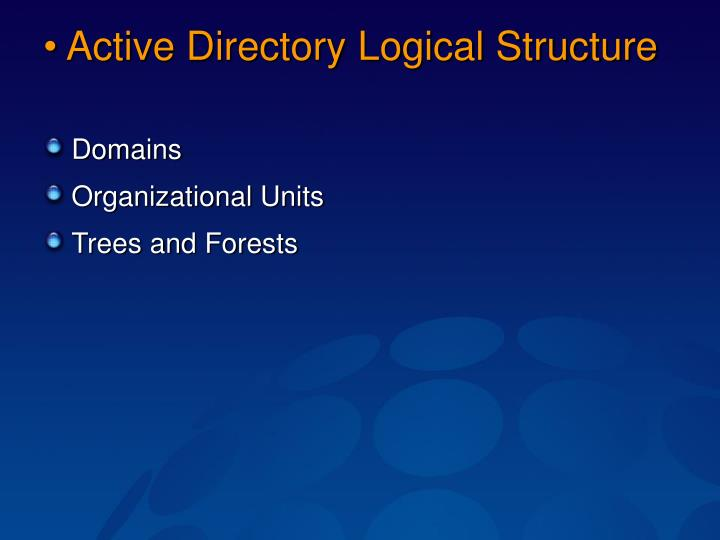 Active Directory Logical Structure