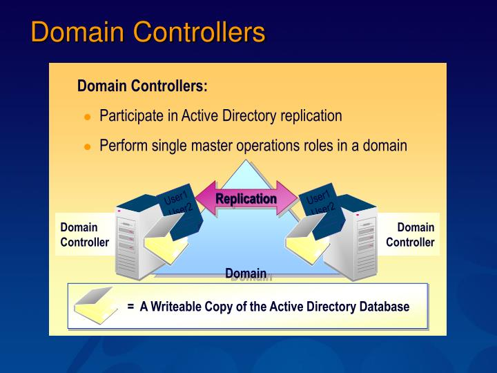 Domain Controllers: