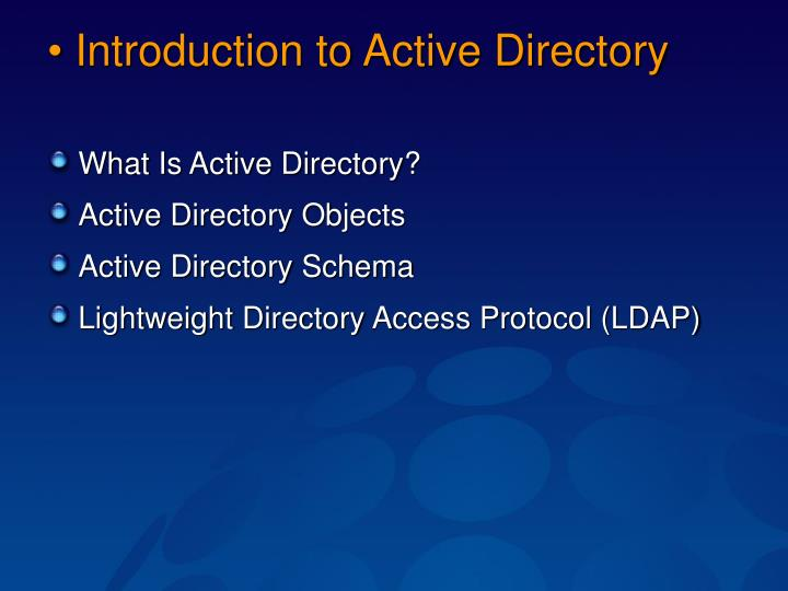 Introduction to active directory
