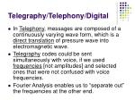 telegraphy telephony digital