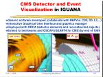 cms detector and event visualization in iguana