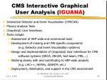 cms interactive graphical user analysis iguana