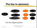 the key to openness