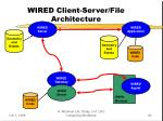 wired client server file architecture