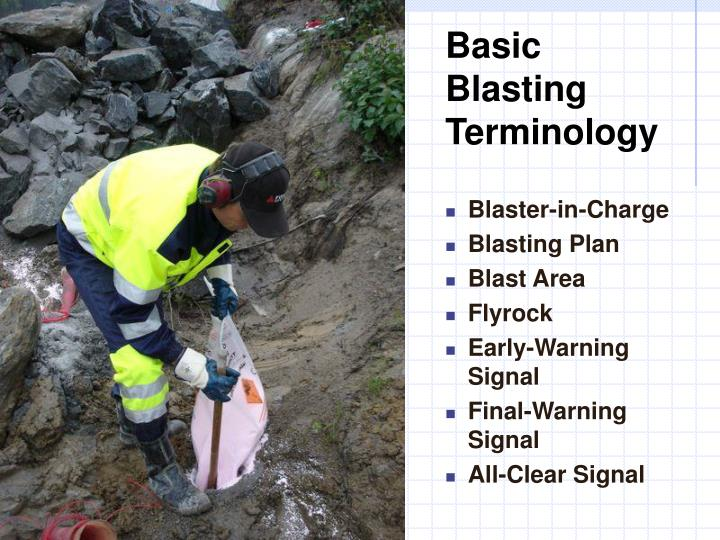 Basic Blasting Terminology