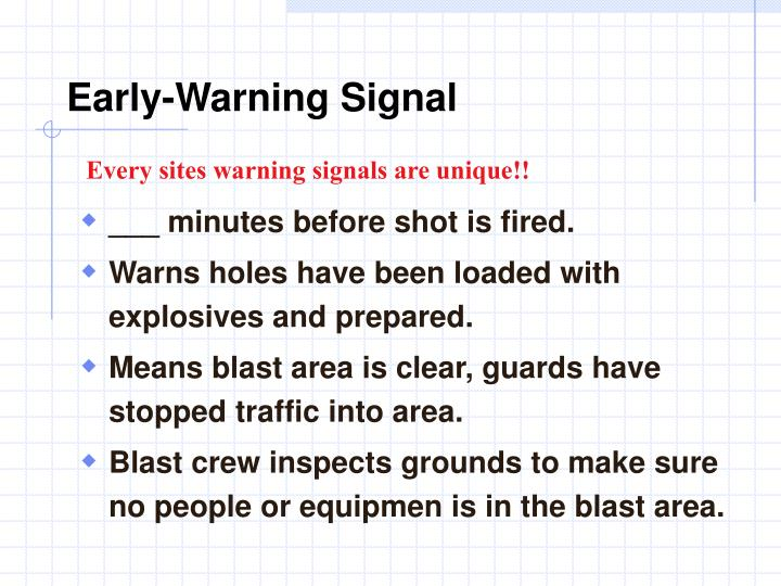 Early-Warning Signal