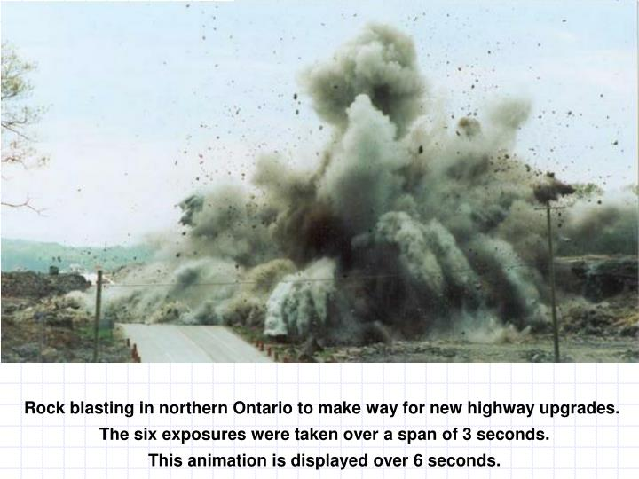 Rock blasting in northern Ontario to make way for new highway upgrades.
