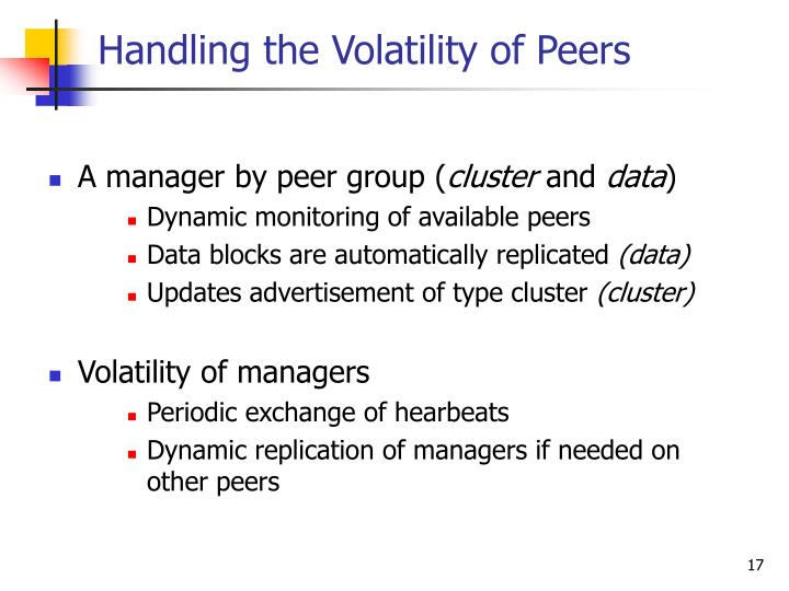 Handling the Volatility of Peers