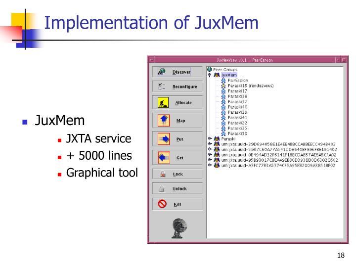 Implementation of JuxMem