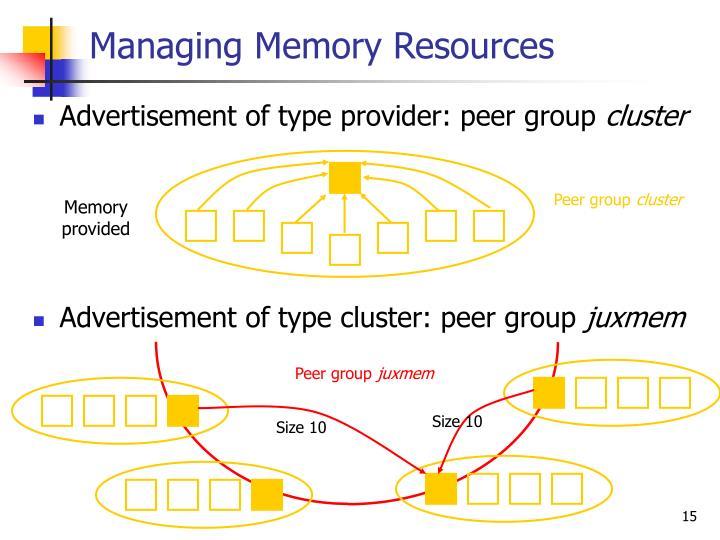 Managing Memory Resources
