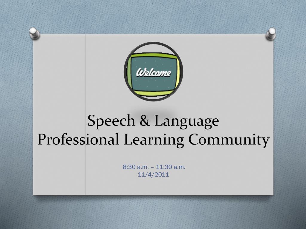 Speech communities.