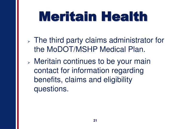 PPT - What is New for the MoDOT/MSHP Medical Plan for 2007 ...