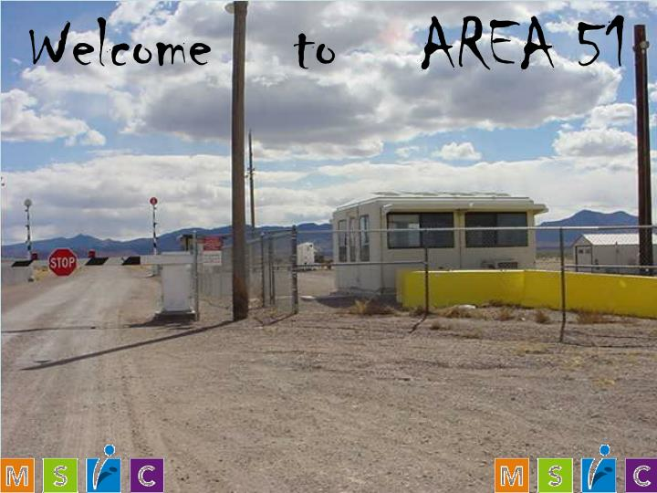 welcome t o area 51 n.