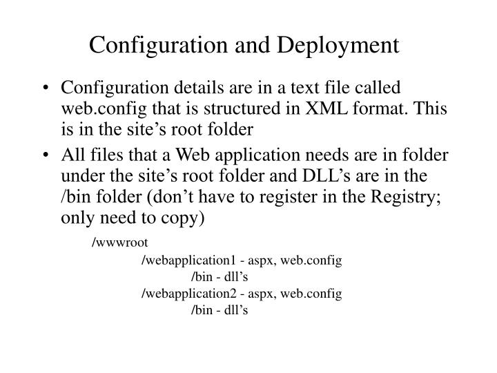 Configuration and Deployment