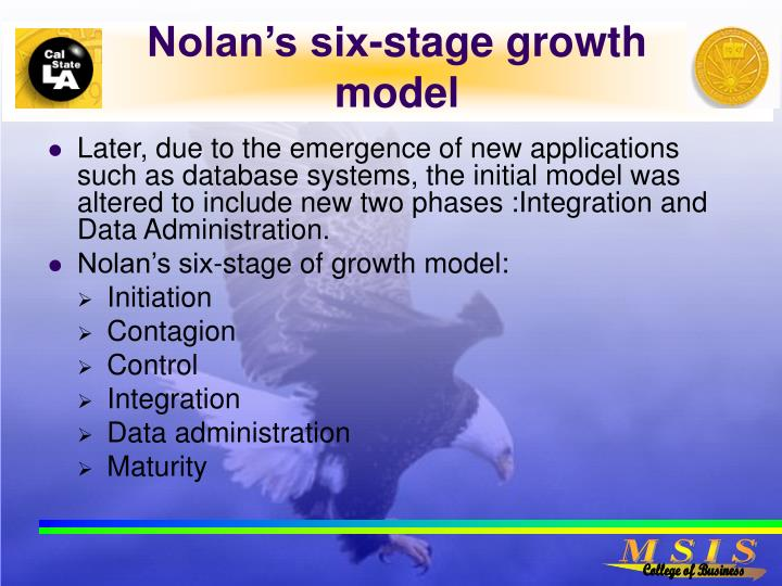 nolan s model stages of the growth Abstract abstract the original 'stages of growth' model, as applied to the field of information systems (gibson & nolan, 1974), may be viewed as seminal, given.