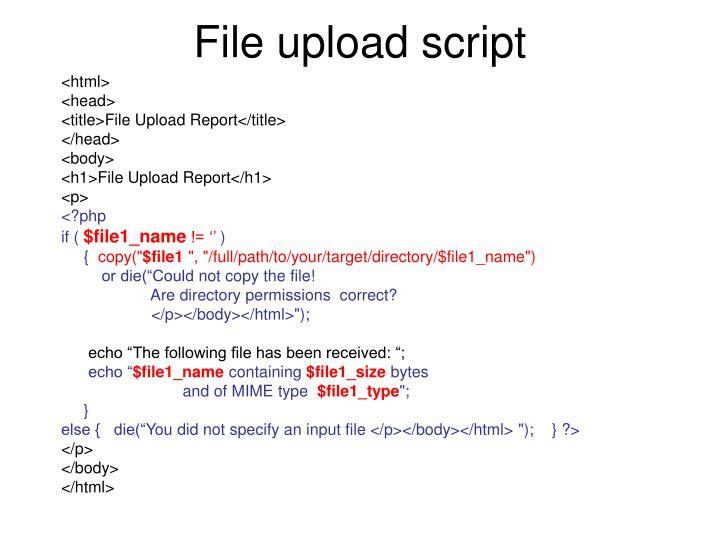 File upload script
