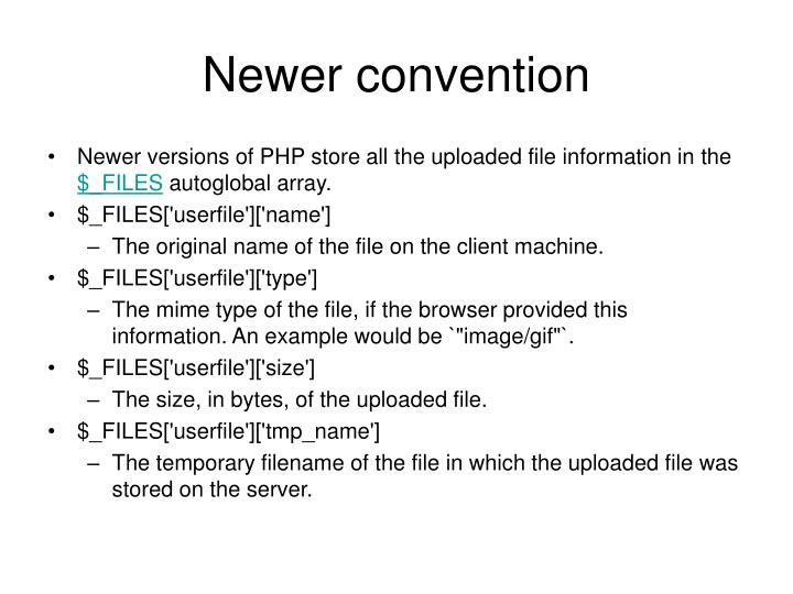 Newer convention