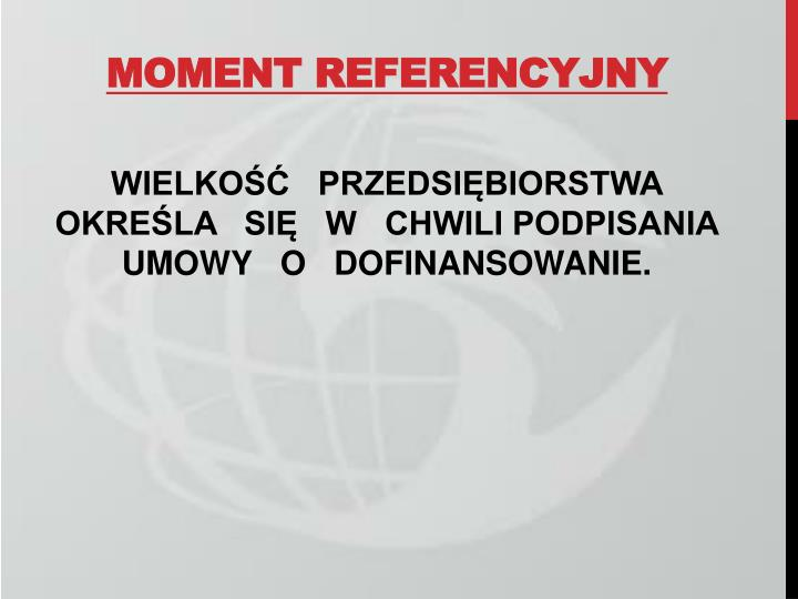 MOMENT REFERENCYJNY