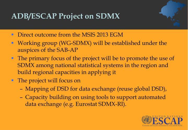 ADB/ESCAP Project on SDMX