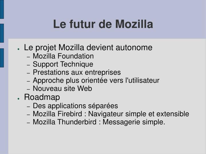 Le futur de Mozilla