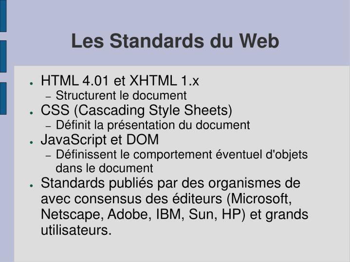 Les Standards du Web
