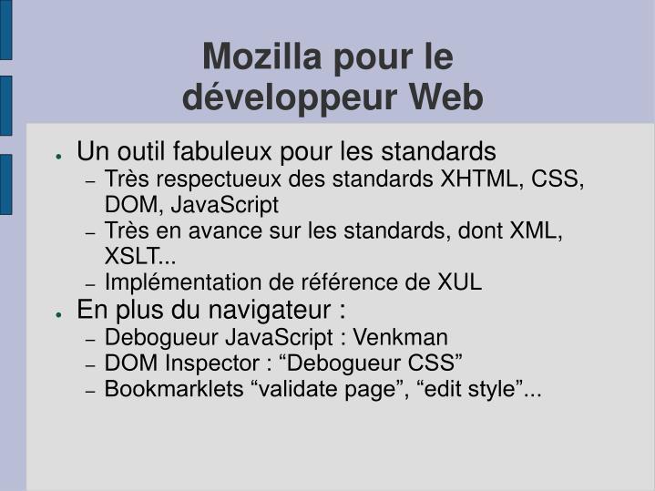 Mozilla pour le