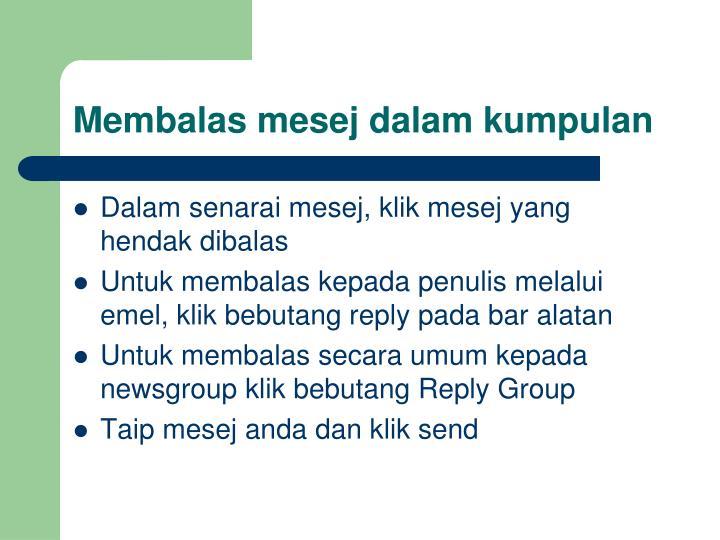 Membalas mesej dalam kumpulan