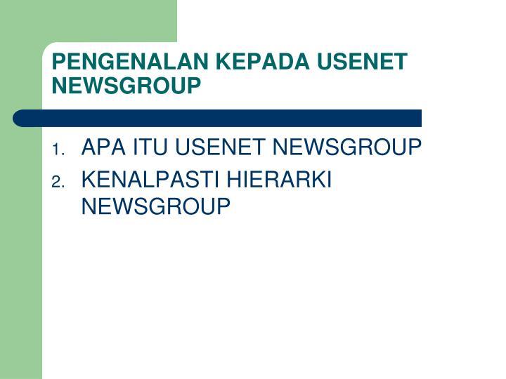 Pengenalan kepada usenet newsgroup
