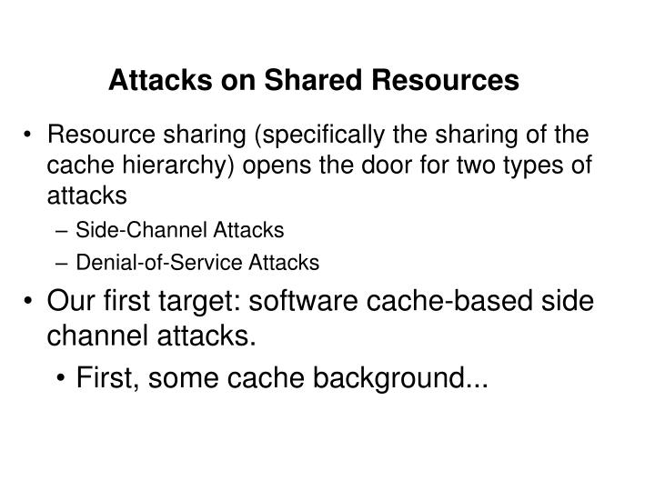 Attacks on Shared Resources